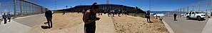 Friendship Park (San Diego–Tijuana) - Panorama of park within the Mexico–United States barrier