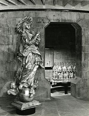 Francesco Maria Schiaffino - Francesco Maria Schiaffino, statue of the Immacolata, Museum of the treasure, Cathedral of San Lorenzo, Genoa. Photo by Paolo Monti, 1963.