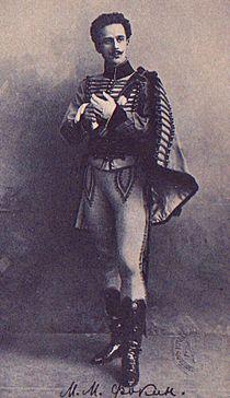 Paquita -Lucien d'Hervilly -Mikhail Fokine -circa 1905.JPG