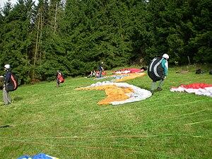 Paragliding launch preparations.jpg
