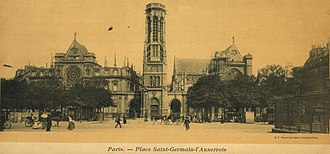 Saint-Germain l'Auxerrois - Place Saint Germain l'Auxerrois at turn of the century
