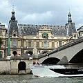 Paris Pont du Carrousel downstream rive droite Guichets du Louvre riverside 20120715.jpg