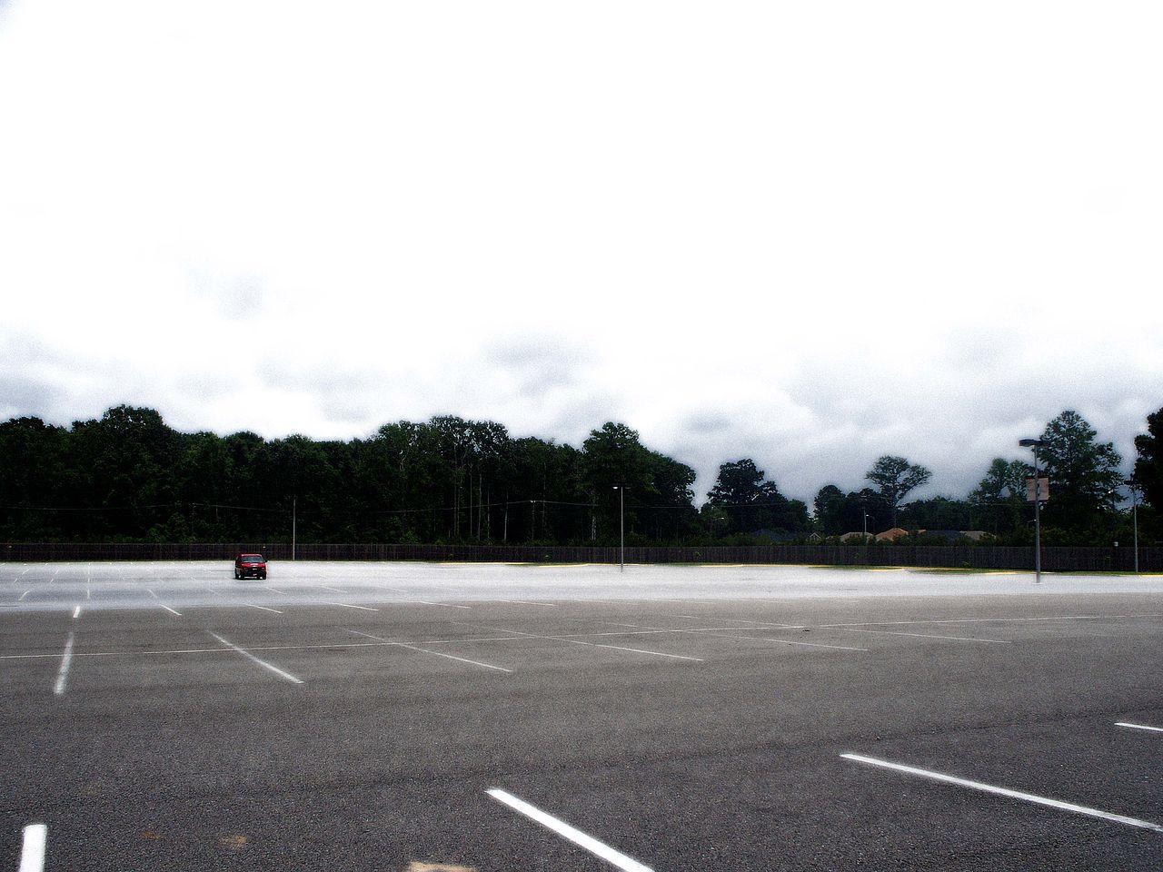 Parking Lot  Collins Ave Miami Beach Fl  Usa