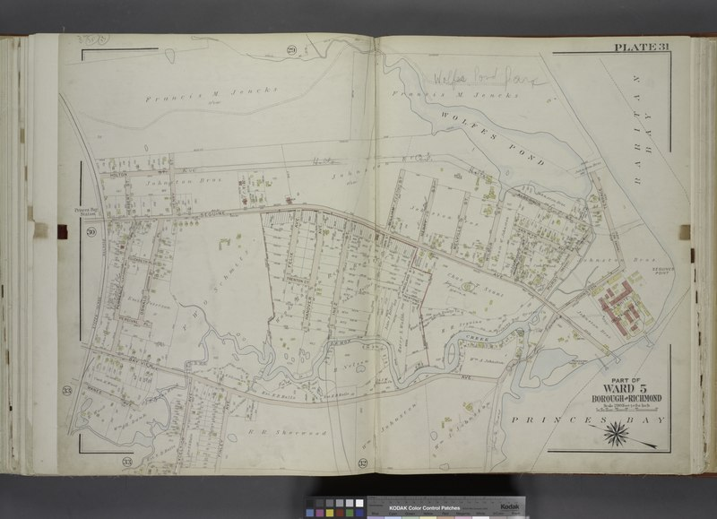 File:Part of Ward 5. (Map bound by Holton St, Henry St, Seguine Ave, William St, Melville St, Wilbur St, Algernon St, Johnson Terrace (Shore Ave), Lemon Creek, Bay View Ave, Finley Ave, Excelsior NYPL1646298.tiff