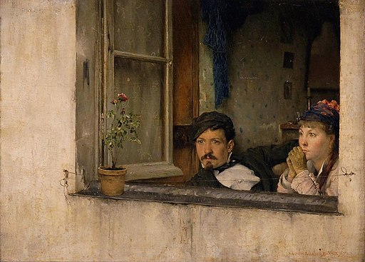 Pascal Dagnan-Bouveret - A Young Man and Woman Gaze Out a Window