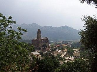 Patrimonio - The church and surrounding buildings in Patrimonio