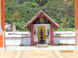 Neendoor town in Kerala, India
