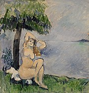 Paul Cézanne - Bather at the Seashore (Baigneuse au bord de la mer) - BF1155 - Barnes Foundation.jpg
