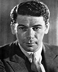 Black and whiteublicity photo of Paul Muni for film Life of Emile Zola (1936)