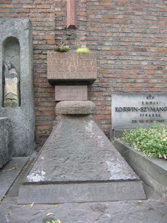 Paweł Jasienica - Jasienica's grave, Powązki Cemetery, Warsaw