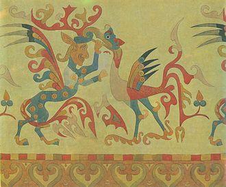Pazyryk burials - Image: Pazyryk felt carpet