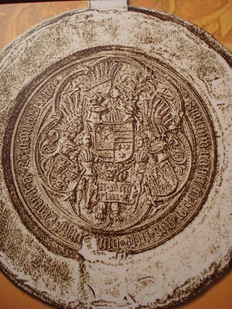 Ladislaus the Posthumous - The seal of Ulrich II, Count of Celje, who was Ladislaus's kisman and close advisor