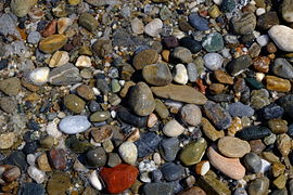 Pebbles in Rethymno's beach.jpg