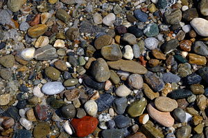 Pebble - Pebbles in Rethymno's beach, Crete.