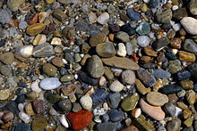Pebbles in Rethymno's beach, Crete.