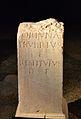 Pedestal dedicat a la deesa Fortuna, centre arqueològic de l'Almoina.JPG