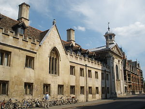 Trumpington Street - The Trumpington Street façade of Pembroke College, with the chapel on the right, the first building to be built by Sir Christopher Wren.