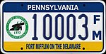 Pennsylvania 2012 Fort Mifflin On The Delawarre license plate.jpg