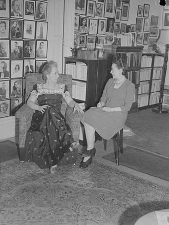 Lucille Desparois - Lucille Desparois (right) at the home of Marie-Thérèse Paquin in Montreal.