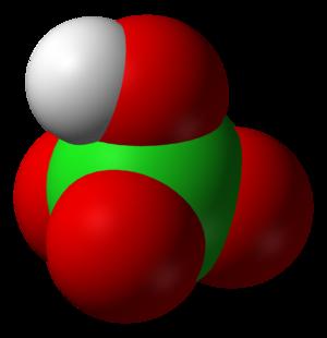 Perchloric acid - Image: Perchloric acid 3D vd W