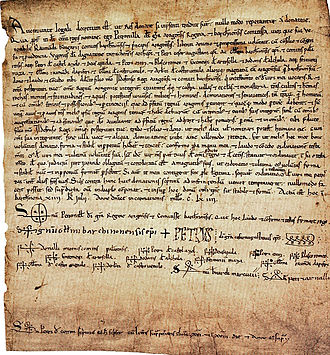 Petronilla of Aragon - Charter by which Petronilla abdicated in favour of her son.