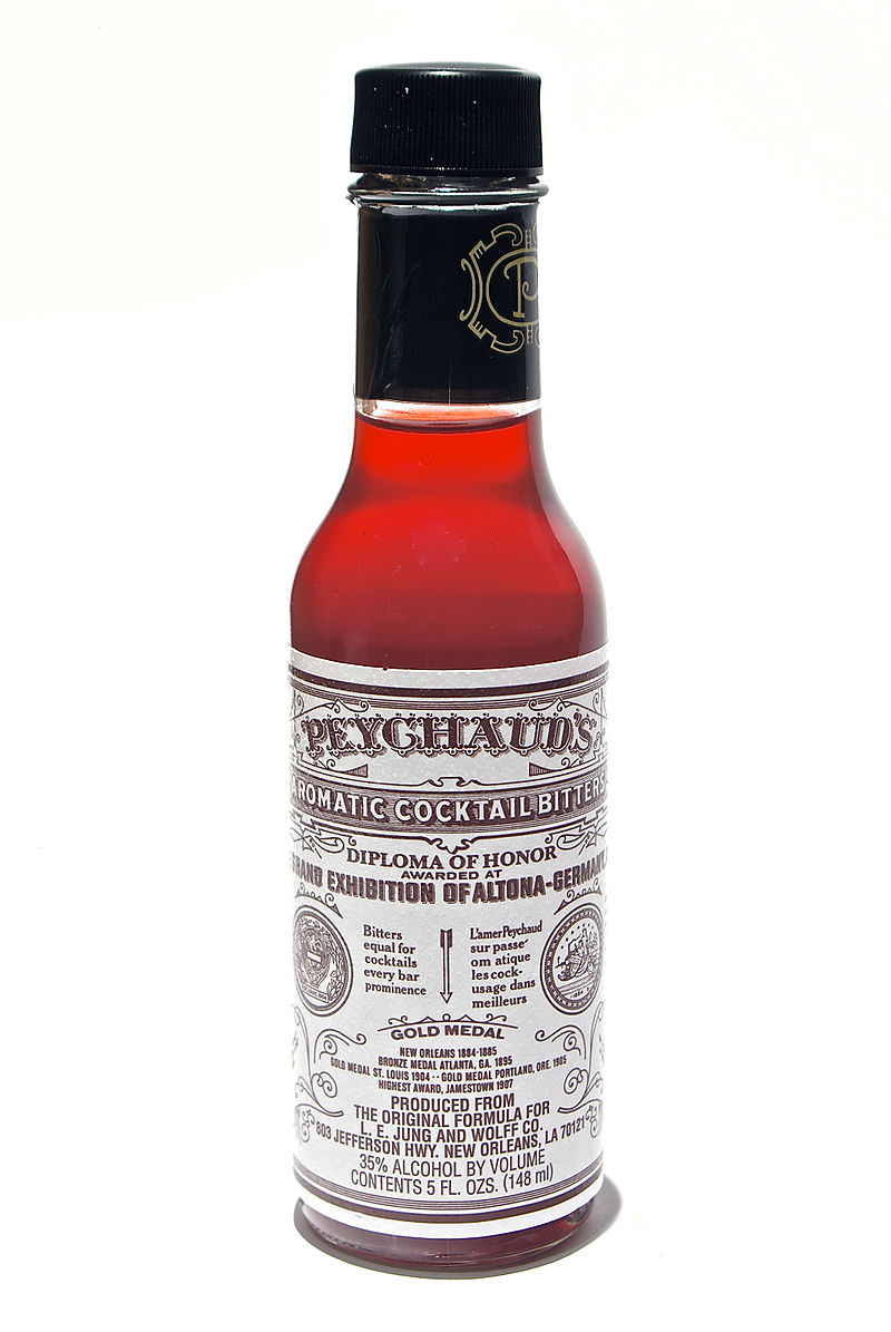 what was the first ever cocktail - Bottle of Peychaud's Bitters - first ever cocktail ingredient.