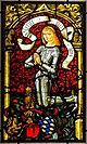 Pfalzgraf Philipp I (1448-1508) as donor, from St. Cacilien in Neckarsteinach, Middle Rhine - Pfalz, 1483 AD, stained and painted glass - Hessisches Landesmuseum Darmstadt - Darmstadt, Germany - DSC00614.jpg
