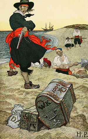 "Buried Treasure: illustration of William ""..."