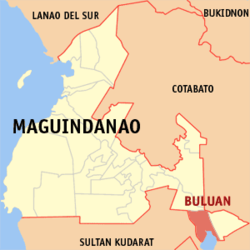 Map of Maguindanao showing the location of Buluan