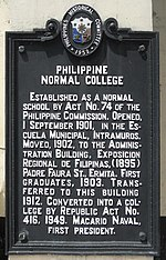 Philippine Normal University - Wikipedia