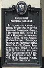 PhilNormalCollege HistoricalMarker Marker.jpg