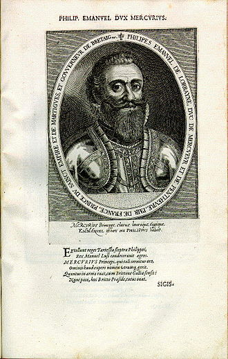 Philippe Emmanuel, Duke of Mercœur - Image: Philippe emmanuel de mercoeur