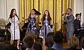 Phillipa Soo, Renée Elise Goldsberry, Jasmine Cephas-Jones and Leslie Odom Jr Hamilton White House 03.jpg