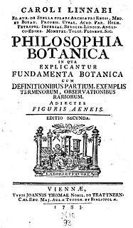 <i>Philosophia Botanica</i> book by Carolus Linnaeus