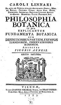 Philosophia Botanica cover