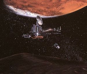 Artist impression of Phobos spacecraft