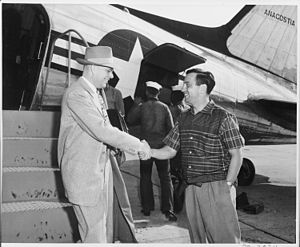 Richard Neustadt - Richard Neustadt (right) on 10 March 1951