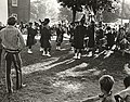 Photograph of members of a pipe band taking part in the Centennial Parade held in Deseronto, Ontario, on Thursday, 17th June, 1971. (5037211720).jpg