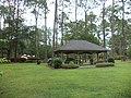 Picnic shelter in Geo. M. Dame Memorial Park, Homerville.JPG
