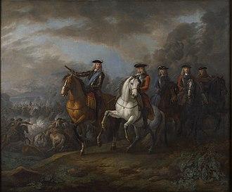 William Cadogan, 1st Earl Cadogan - Marlborough and Cadogan at the Battle of Blenheim by Pieter van Bloemen