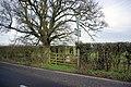 Pillbox, Tree and Gate - geograph.org.uk - 339786.jpg