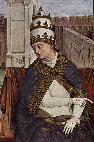 Pope Pius II - One of the many frescoes of Pius II located in the 'Piccolomini library' in the Duomo in Siena