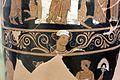 Pittore di dario, loutrophoros con sacerdotessa davanti altare di apollo, epigrafe KREOYSA (per la storia di ione), da tomba 1 di via bari (altamura), 330-320 ac ca. 05.jpg