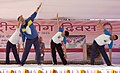 Piyush Goyal performing yoga along with the Chief Minister of Chhattisgarh, Dr. Raman Singh, on the occasion of the 2nd International Day of Yoga – 2016, in Raipur (2).jpg