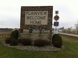 Plainview's town sign