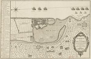 Fort St. George, India - Plan of Fort St George made during the French occupation of 1746-1749