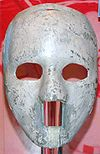 Goaltender mask worn by Jacques Plante