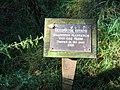 Plaque at Sezincote Millennium Plantation - geograph.org.uk - 246896.jpg