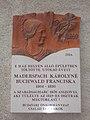 Plaque of Franciska Buchwald by Károly Krajcsovics. - 9 Szalag Street, Budapest.JPG