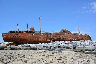 MV Plassy - Image: Plassy shipwreck 2016